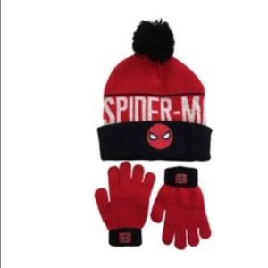 Marvel Spiderman Hat and Glove Set NWT
